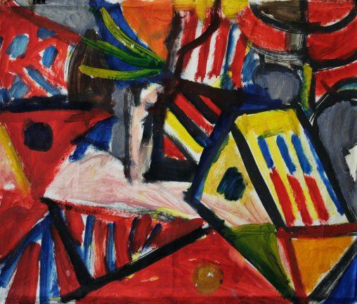 Baum, Garten/ Öl auf Papier /Oil on paper 60 x 53 cm 1990